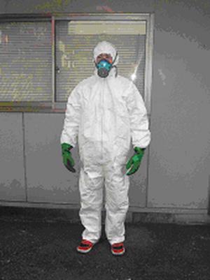 ゆかしたせんにゅうせっと|しろあり|きくいむしくじょ|さぎょうようひん|白蟻駆除に必要な防護服、防毒マスクなどが入ったセット自分で床下に潜って白蟻駆除、白蟻調査、配管などからの水漏れなどする場合に必要なセットです!床下潜入SETの通信販売:テクネットストア、製品名:床下潜入SET 内容:防護服(不織布:フード付ツナギタイプ)、防毒マスク(吸収缶2個)、手袋、ゴーグル防護服(不織布:フード付ツナギタイプ)、防毒マスク(吸収缶2個付)、手袋、ゴーグルまでセットになっているので、すぐに床下に潜る事が可能です。防毒マスクは薬剤散布にも対応する本格的タイプです。長袖長ズボンの服を着用した上から着て下さい。床下は釘、配管、配線などがあり危険な場合がありますので充分注意して作業して下さい。白蟻駆除に必要な防護服、防毒マスクなどが入ったセット自分で床下に潜って白蟻駆除、白蟻調査、配管などからの水漏れなどする場合に必要なセットです!床下潜入SETの通信販売:テクネットストア